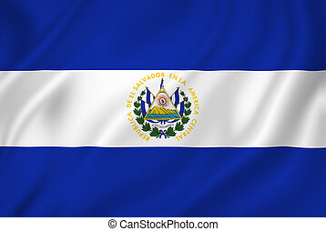 El Salvador flag - El Salvador national flag background...