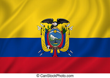 Ecuador flag - Ecuador national flag background texture.