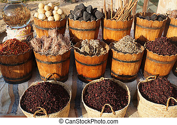 egypt sice market - market in egypt with colorful spice and...