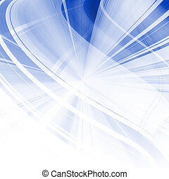 Blue Curved Art Abstract Background