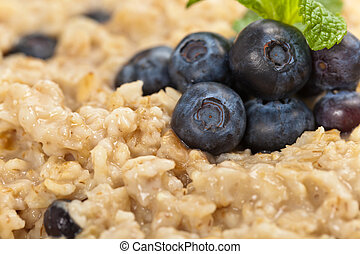 Oatmeal with Berries for Breakfast