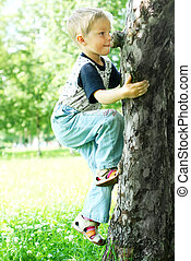Tree-climber - Little kid to climb up tree