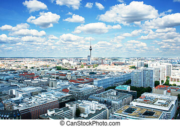 Berlin birds-eye view Germany