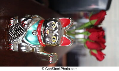 Good Luck Cat For Business Ornament, stock video