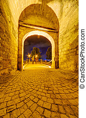 Medieval gate at Belgrade fortress, Belgrade, Serbia