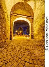 medieval, portão,