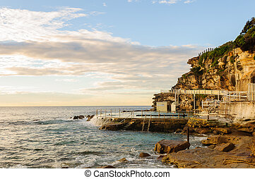 Tidal rock pool  - Tidal rock pool in Bronte beach