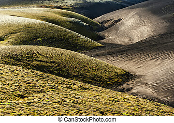 Dunes of two colors - A contrasty wavy landscape of a former...