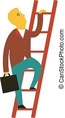 man climbing the staircase