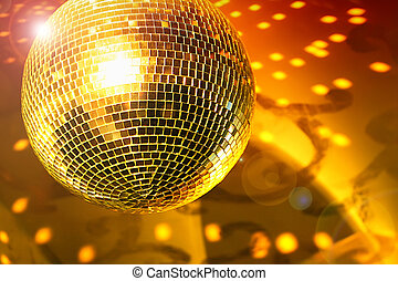 Shine - Shiny disco ball on night club close up