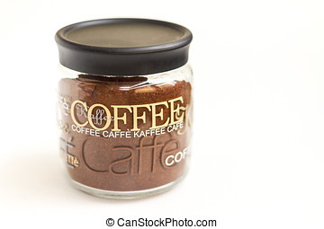 Jar of coffee - Glass jar of coffee isolated on white...