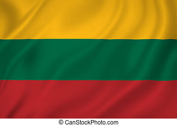 Lithuania flag - Lithuania national flag background texture.