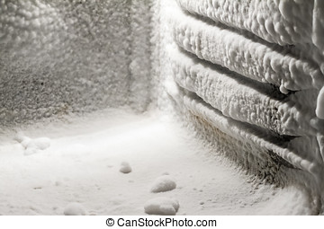 Ice buildup on freezer walls - Ice buildup on the inside of...