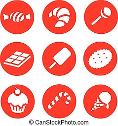 Candy  and Sweets icons set