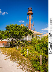 Sanibel Island Lighthouse, in Sanibel, Florida.