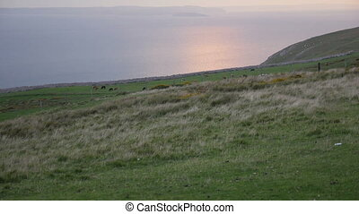 Sunset from Great Orme's Head coastline - Sunset at the...