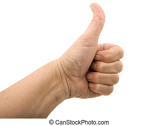 Hand Thumbs Up - Isolated - Thumbs up hand on a white...