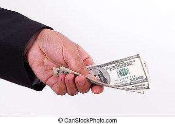 Man Extends Money