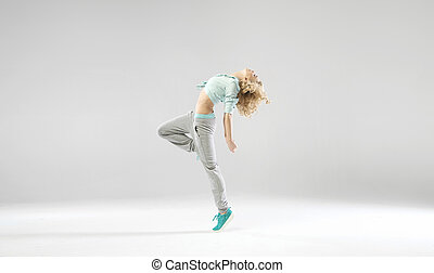 Portrait of exercising young lady - Portrait of exercising...