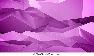 Adstract geometric shapes in motion Pink