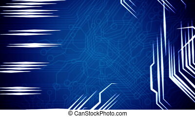 Conceptual background of circuit board's signals.