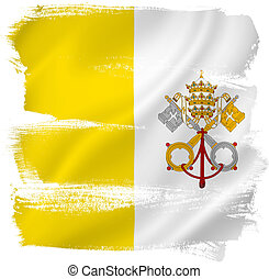 Vatican flag backdrop background texture.