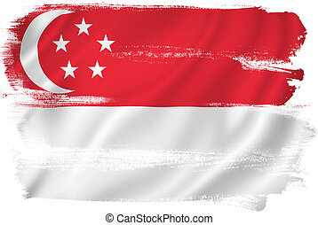 Singapore flag backdrop background texture