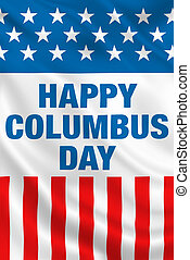 Columbus Day USA flag banner design.