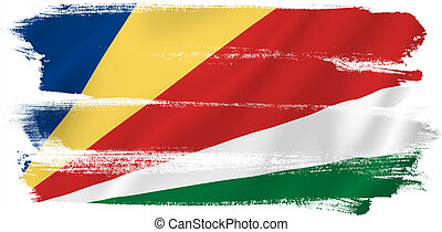 Seychelles flag backdrop background texture