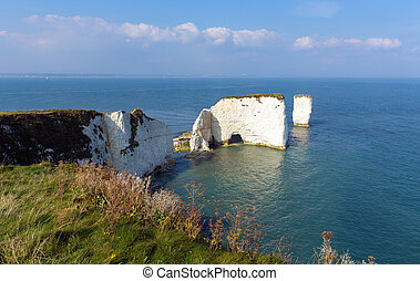 Old Harry Rocks chalk rocks Dorset - Old Harry Rocks chalk...