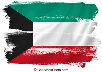 Kuwait flag backdrop background texture.