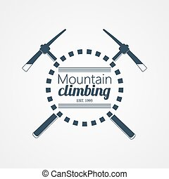 Mountain climbing Vector logo