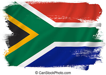 South Africa flag backdrop background texture.