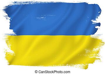 Ukraine, Fahne,