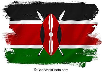 Kenya flag backdrop background texture.