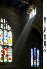 Heaven Sent - Ray of light in Lancaster Priory, England