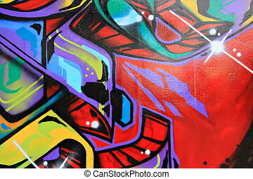 Graffiti - Urban graffiti wall