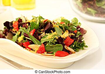 Fresh salad of mixed baby greens