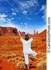 Navajo, reserva, em, a, nós,