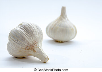 Garlic Bulb Up Close on Bright Background