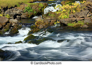 Fast flowing river - Fast flowing river, Iceland