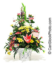 Floral arrangement with card to add your own text. Also...