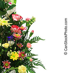 FLoral arrangement - Floral arrangement with copyspace for...