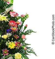 FLoral arrangement - Floral arrangement with copyspace for...
