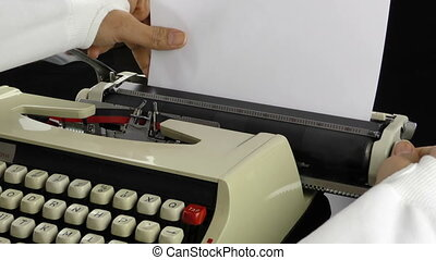 Adding Paper to Typewriter