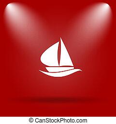 Barca vela, icona,