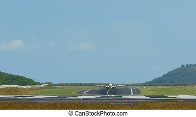 Taxiing - Airplane taxiing after landing, International...
