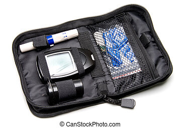 Diabetes Kit - A dibetics medical insulin kit with...