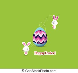 easter egg connecting bunny