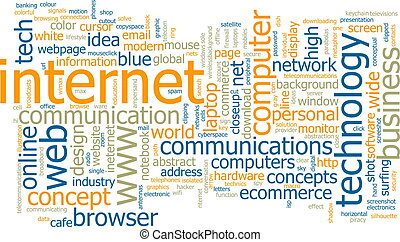Internet word cloud